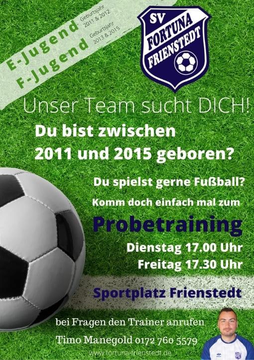 Fußball für Kinder in Erfurt Probetraining